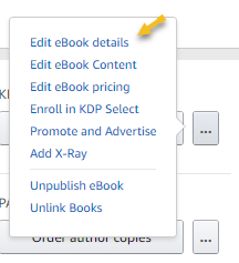 Edit Ebook details